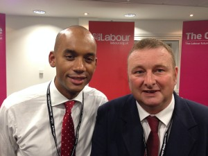 Chris Inchley and Chuka Umunna MP