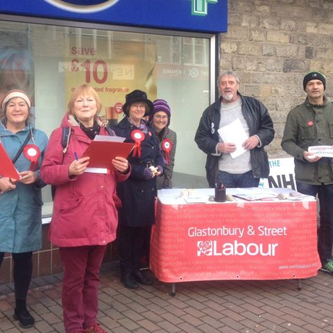 Glastonbury and Street Members out Campaigning for the NHS